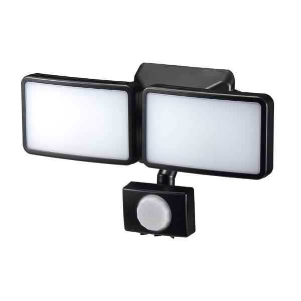 【送料無料】ヤザワ LEDセンサーライト 電池式 防雨・調光タイプ 3W×2灯 リモコン付 SLR3LEB2 センサーライト 屋外 電池 人感 LED
