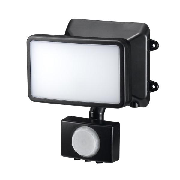 【送料無料】ヤザワ LEDセンサーライト ACコンセント式 防雨・調光タイプ 6W×1灯 リモコン付 SLR6LEA センサーライト 屋外 人感 LED