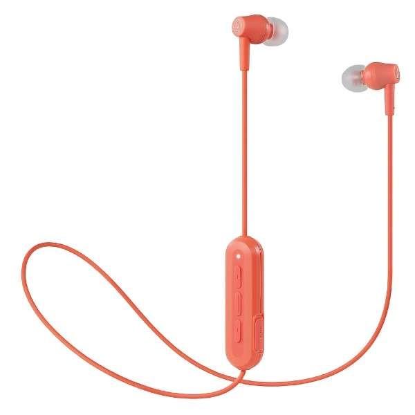 【送料無料】オーディオテクニカ Bluetooth ワイヤレスイヤホン コーラルピンク ATH-CK150BTPK
