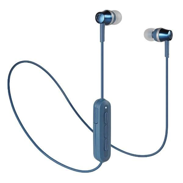 【送料無料】オーディオテクニカ Bluetooth ワイヤレスイヤホン ブルー Sound Reality ATH-CKR300BTBL