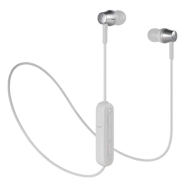 【送料無料】オーディオテクニカ Bluetooth ワイヤレスイヤホン グレー Sound Reality ATH-CKR300BTGY