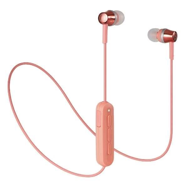 【送料無料】オーディオテクニカ Bluetooth ワイヤレスイヤホン ピンク Sound Reality ATH-CKR300BTPK
