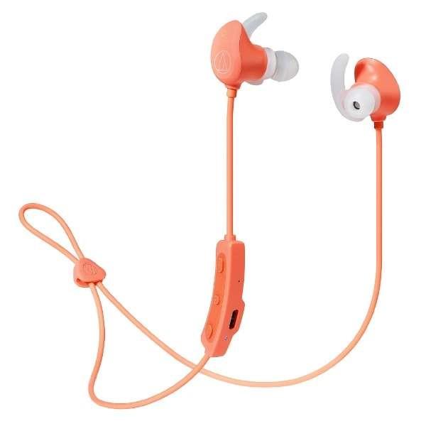 【送料無料】オーディオテクニカ Bluetooth ワイヤレスヘッドホン ピンク SONICSPORT ATH-SPORT60BTPK