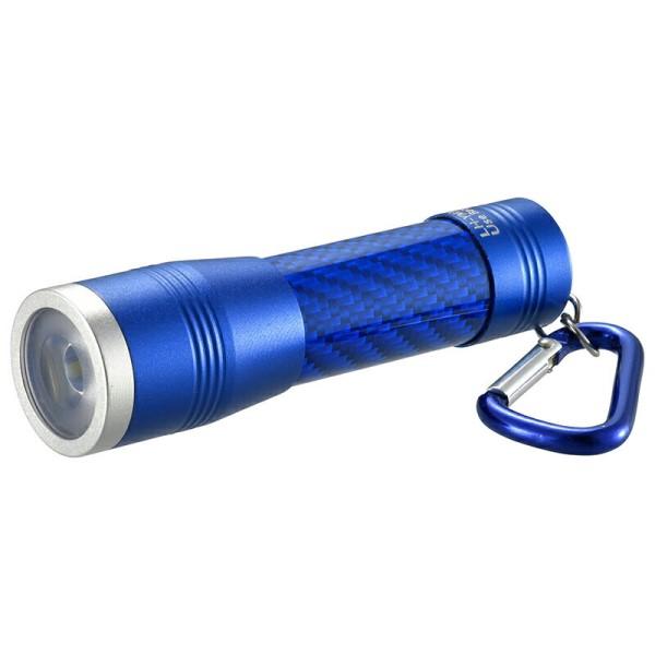 【メール便送料無料】LEDミニライト 100lm ブルー IPX4(防飛まつ) OHM 08-0969 LH-YM31-A 防災 アウトドア LED 懐中電灯 ハンディライト