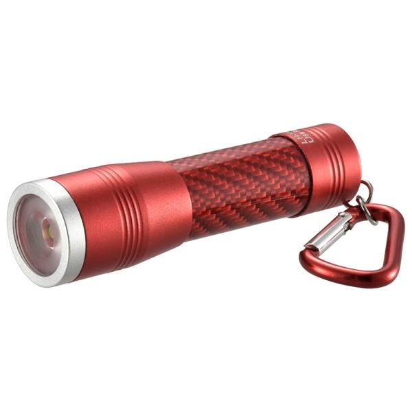 【メール便送料無料】LEDミニライト 100lm レッド IPX4(防飛まつ) OHM 08-0968 LH-YM31-R 防災 アウトドア LED 懐中電灯 ハンディライト