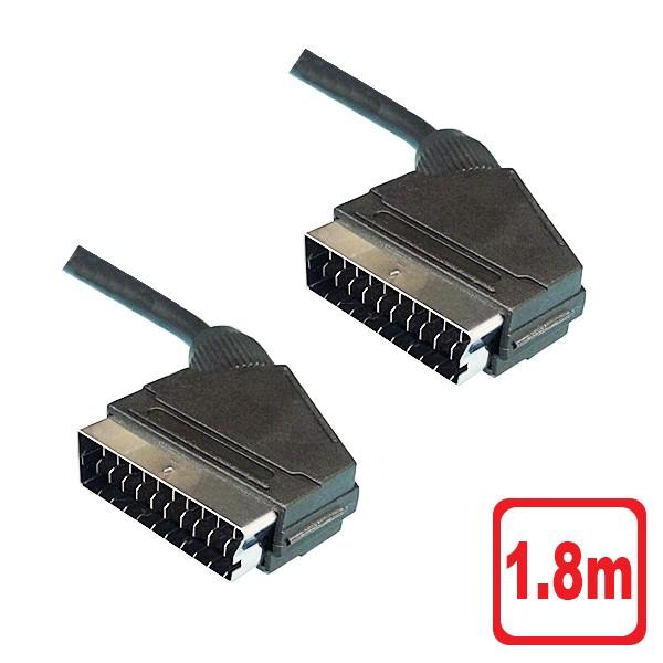 【送料無料】SCARTケーブル 1.8m RGBケーブル 3AカンパニーCO PCC-SCART18  ※RGB21ピン機器使用不可 【返品保証】