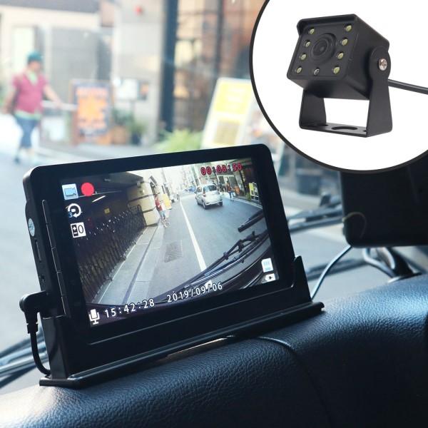 【送料無料】サンコー リアカメラ付きドライブレコーダー トラック・トレーラー・バス用 15mケーブル SDRFTWRC Gセンサー搭載 高画質 フルHD ドラレコ