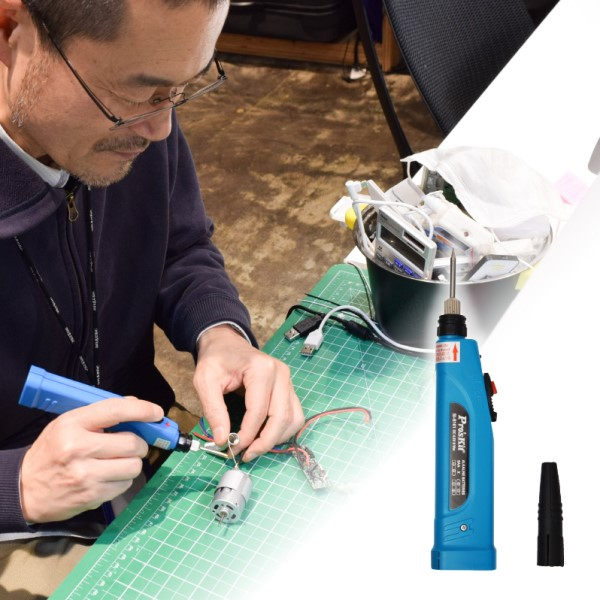 【メール便送料無料】サンコー 電池deどこでも半田ごて 電池式はんだごて CPOSLDIR DIY コンパクト 電動工具