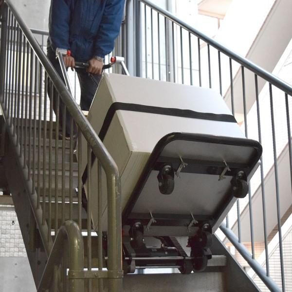 【送料無料】サンコー 電動階段のぼれる台車 ハンドル可変タイプ ELECTRL4 階段の搬入・搬出用台車 【代金引換不可・キャンセル不可】