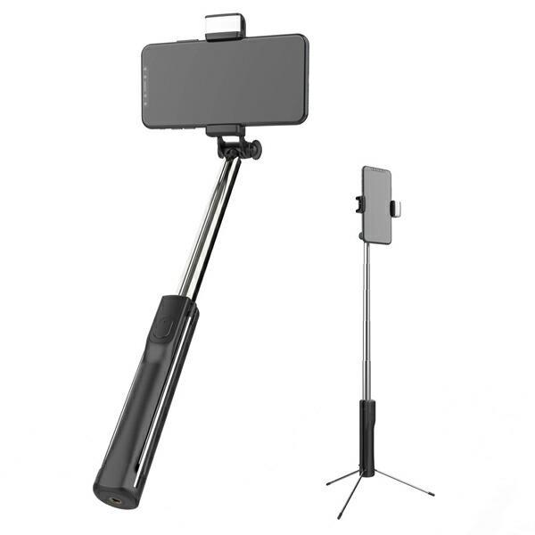 【送料無料】スマホ用三脚+セルカ棒 LEDライト・リモコン付 最大80cm Libra LBR-LEDSS 三脚になる自撮り棒 スマホ iPhone対応