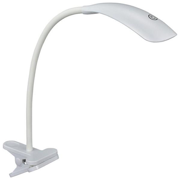 【送料無料】LEDクリップライト LEDデスクライト ホワイト OHM 06-1680 LTC-N30AG-W 卓上ライト デスクスタンド