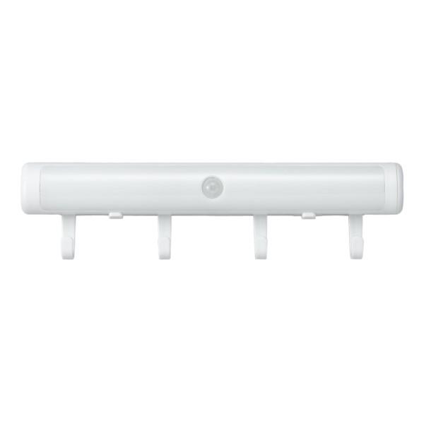 【送料無料】ヤザワ ハンディライトにもなるセンサーライト 電池式 ナイトライト NBSMN54WH 防犯 LEDライト 懐中電灯