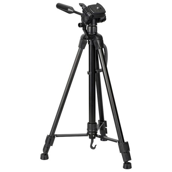 【送料無料】カメラ三脚 機能充実アルミタイプ 最伸高1510mm 高さ3段階調節 OHM 03-2900 OCT-ATR3-151A デジタルカメラ ビデオカメラ 三脚