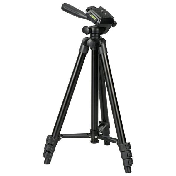 【送料無料】カメラ三脚 軽量コンパクトタイプ 最伸高1290mm 高さ4段階調節 OHM 03-2799 OCT-ATR4-127K デジタルカメラ ビデオカメラ 三脚