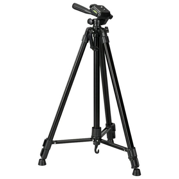【送料無料】カメラ三脚 頑丈スチールタイプ 最伸高1570mm 高さ3段階調節 OHM 03-2800 OCT-STR3-157K デジタルカメラ ビデオカメラ 三脚