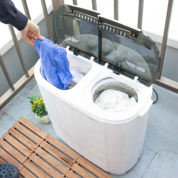 【送料無料】サンコー 小型二槽式洗濯機 別洗いしま専科3 ミニ洗濯機 STTWAMN3 介護 育児 ペット 一人用 洗濯機