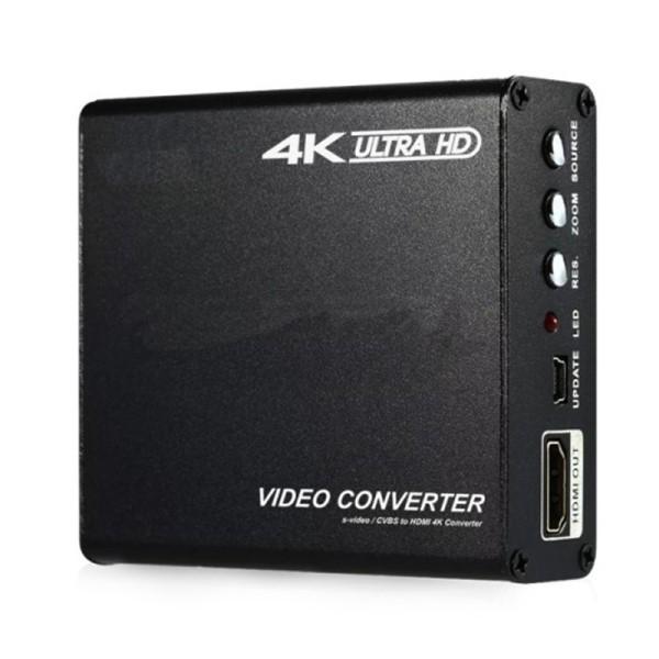 【送料無料】テック 4K対応 HDMIアップスキャンコンバーター S端子/コンポジット→HDMI変換器 TSCHDMI4 HDMIビデオコンバーター