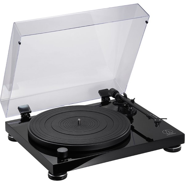 【送料無料】オーディオテクニカ ベルトドライブターンテーブル ピアノブラック AT-LPW50PBJP カートリッジ付・フォノイコライザー内蔵 レコードプレーヤー おすすめ