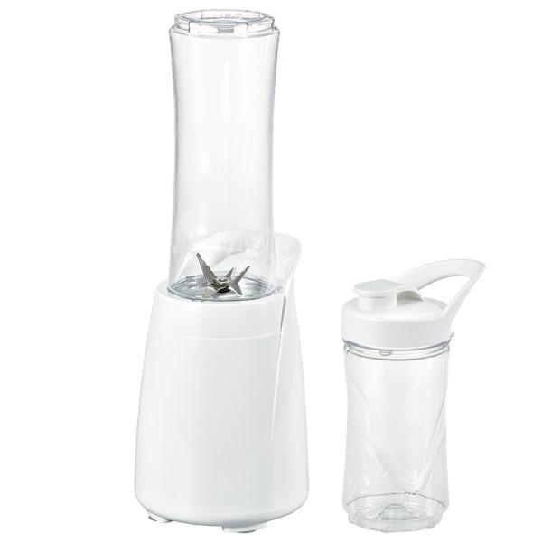 【送料無料】ボトルブレンダ― ジューサー&ミキサー ホワイト OHM 08-1239 COK-MS1A-W シンプル 洗いやすい ブレンダー スムージー キッチン 調理家電
