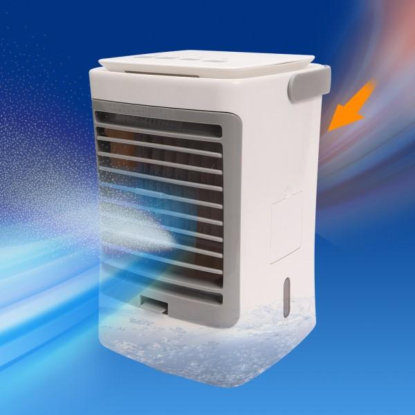 【送料無料】卓上首振りミスト冷風扇 ひえミスト コンパクトUSB扇風機 サンコー CPSIMCAF ポータブルUSBファン 冷風機