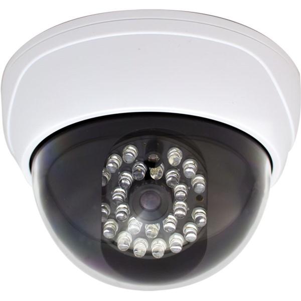 【送料無料】キャロットシステムズ ドーム型ダミーカメラ 明暗センサー付 17-7657 DD-128 LED ダミー用 防犯カメラ セキュリティカメラ