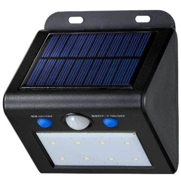 【送料無料】ELPA 屋外用LEDセンサーウォールライト ソーラー式 白色 ESL-K101SLW 防水 防犯 人感センサー セキュリティ エルパ