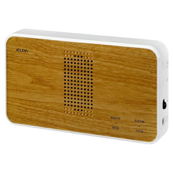 【送料無料】ELPA ワイヤレスチャイムチーク調受信器 増設用 EWS-P51 防犯 セキュリティ チャイム エルパ