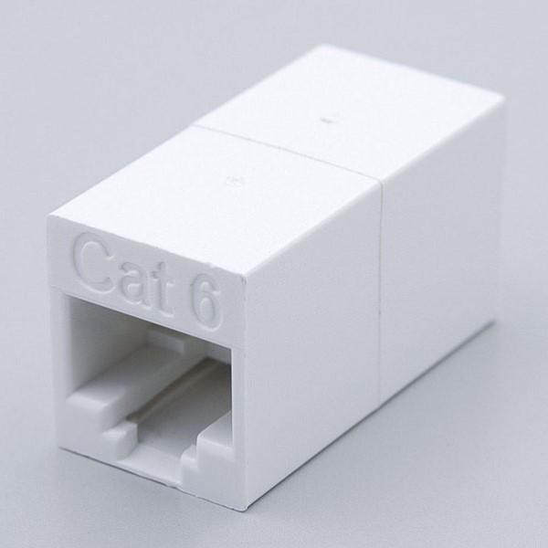 【送料無料】ELPA LAN用中継コネクター CAT6 TEA-103 電話機 FAX LANケーブル カテゴリ6準拠 8極8芯用 エルパ