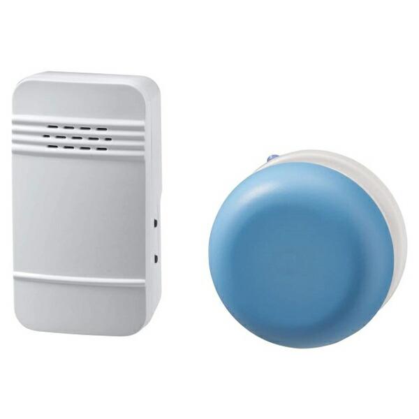 【送料無料】ELPA 電池を使わないワイヤレスチャイムセット 防水ボタン WC-S6041AC 防犯 セキュリティ チャイム エルパ