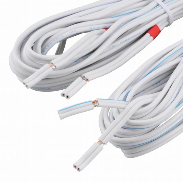 【送料無料】スピーカーケーブル 5m 2本入り ホワイト OHM 01-5115 AUD-C50SK-W スピーカーコード オーディオケーブル