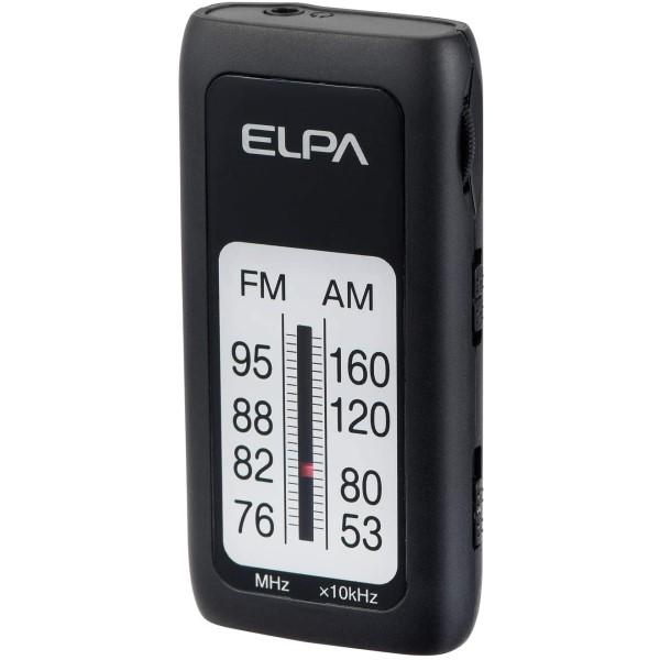 【メール便送料無料】ELPA AM/FM スリムラジオ ER-S61F イヤホン付き デジタル同調方式 防災 災害 エルパ
