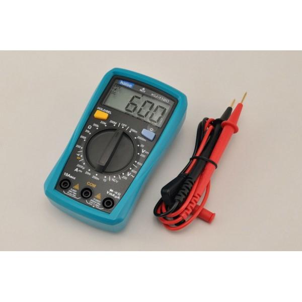 【送料無料】ELPA デジタルマルチテスター 計測機器 測定器 KU-1120 DIY 工作用 エルパ