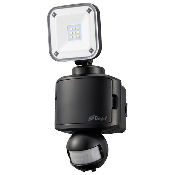 【送料無料】E-Bright LEDセンサーライト 1灯 400lm 昼光色 乾電池式 ブラック 06-4238 OHM LS-B145A19-K LED ナイトライト 人感 防犯灯
