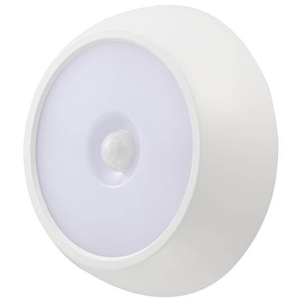 【送料無料】LEDセンサーライト 防水性能IPX4 明暗・人感センサー式 昼白色 ホワイト OHM 06-4108 NIT-BLA6JM-2 LED ナイトライト 人感 防犯灯