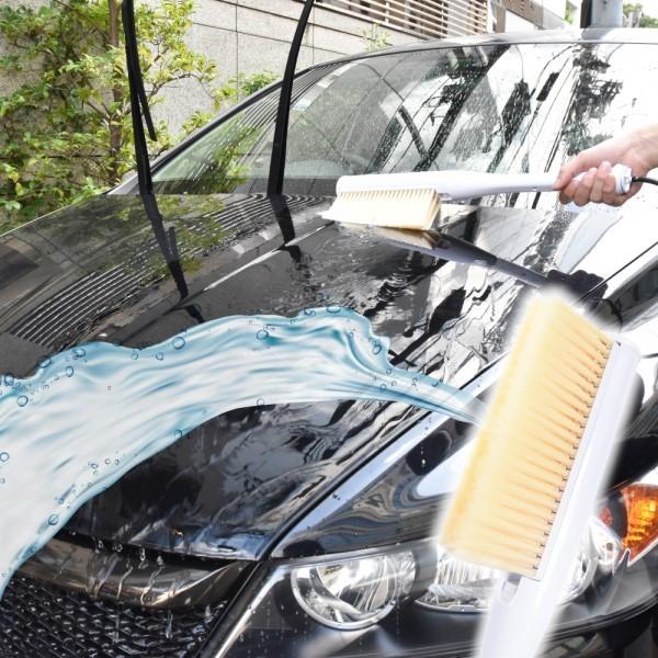 【送料無料】サンコー ハンディスプラッシュブラシ 水を吸い上げ片手で洗車! ポータブルシャワー STTHCWBW 洗車用品 カー用品 カークリーナー