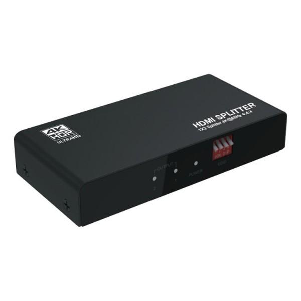 【送料無料】テック 4K対応HDMIスプリッター ダウンスケール機能搭載 HDMI2分配器 THDSP12X2-4K60S HDMI 1入力2出力 4K60Hz HDR規格対応