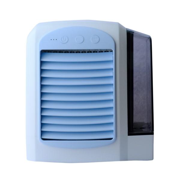 【送料無料】ミヨシ USB冷風扇 卓上扇風機 ブルー USF-16BL 小型 コンパクト デスクファン 卓上ファン