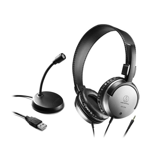 【送料無料】オーディオテクニカ USBマイクロホン+ヘッドホン ホームオフィスパック AT9933USBPACK テレワーク オフィスワーク ヘッドホン マイクセット