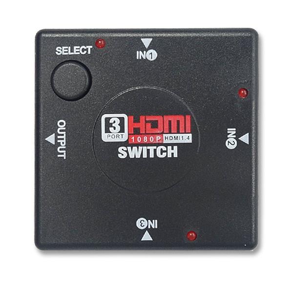 【メール便送料無料】3ポートHDMIセレクター 3入力1出力 HDMI切替器 Libra DT-HDMIS1 パッシブ型 AVセレクター ※4K非対応