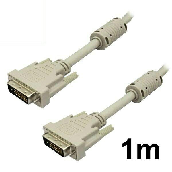 【メール便送料無料】DVIケーブル デュアルリンク 1m DVI-D 24pin アイボリー 3Aカンパニー 3A-DVI2410 【返品保証】 ディスプレイケーブル モニターケーブル