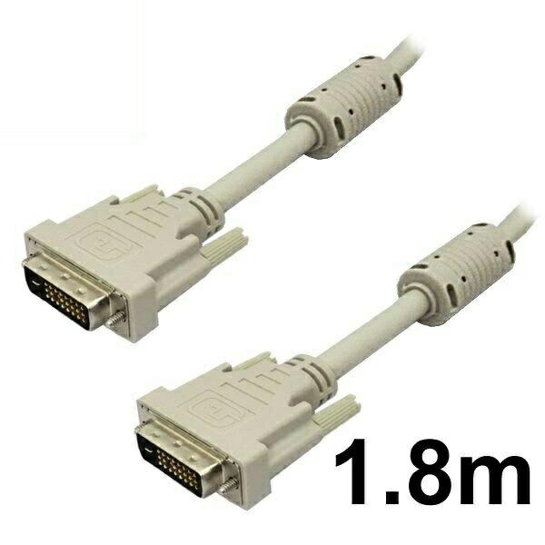【メール便送料無料】DVIケーブル デュアルリンク 1.8m DVI-D 24pin アイボリー 3Aカンパニー 3A-DVI2418 【返品保証】 ディスプレイケーブル モニターケーブル