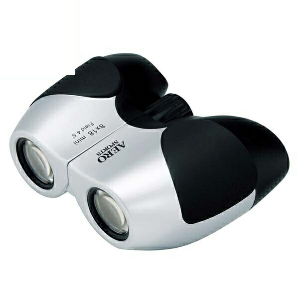 【送料無料】ケンコー エアロスポーツ コンパクト双眼鏡 オペラグラス 8倍ズーム シルバー 8X18MINI 13-1123 スポーツ観戦 ライブ コンサート ドームにおすすめ