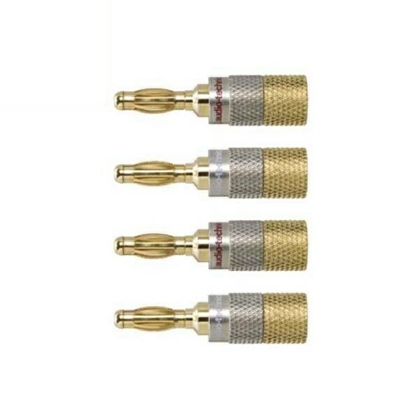 オーディオテクニカ バナナプラグ メタルリア接続型 4個入り 芯径3.7mmまで AT6302