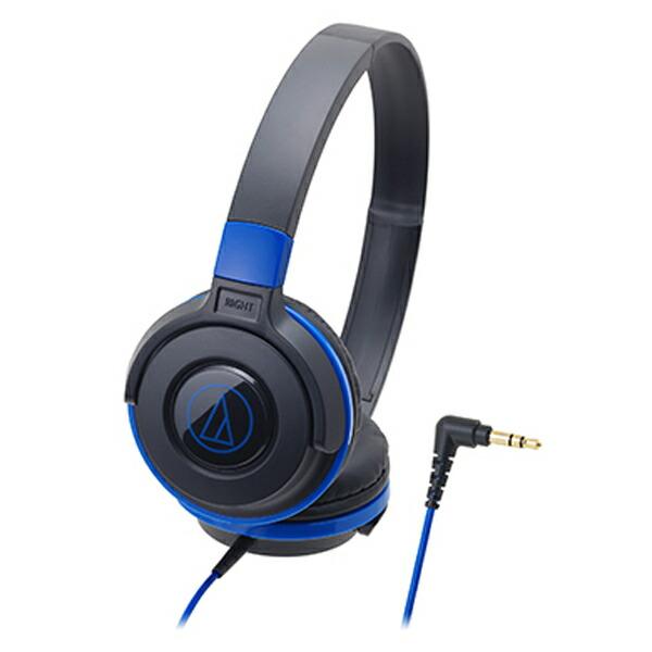 オーディオテクニカ ポータブルヘッドホン ブラックブルー ATH-S100 BBL