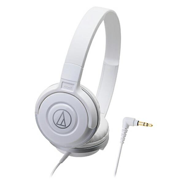 オーディオテクニカ ポータブルヘッドホン ホワイト ATH-S100 WH
