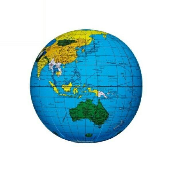 地球儀ビーチボール 40cm ブルー BGP-140