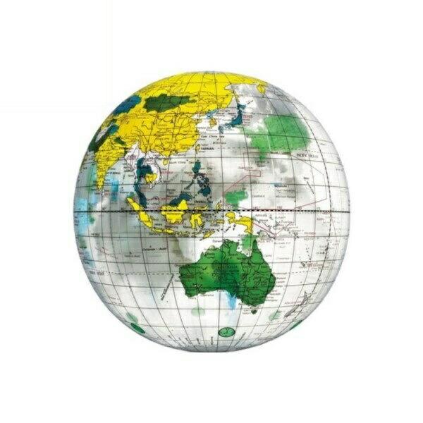地球儀ビーチボール 40cm クリア BGP-240