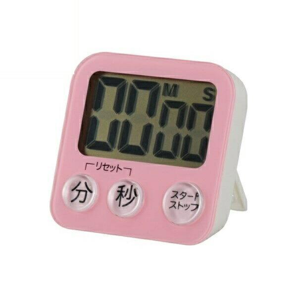 OHM 大画面デジタルタイマー ピンク COK-T130-P