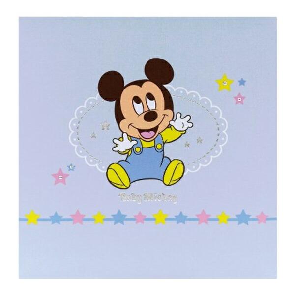 ナカバヤシ フエルアルバムDigio 誕生用 ディズニー ビス式 デミサイズ ベビーミッキー ブルー アH-DDF-501-1
