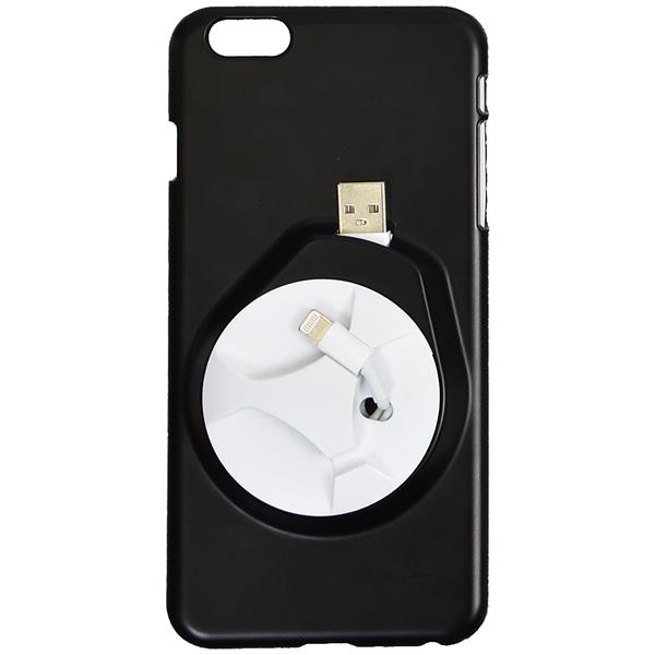 サンコー iPhone6 Plusケース with イヤフォン&ケーブル収納 ブラック IP6PLBL5 【在庫限り】